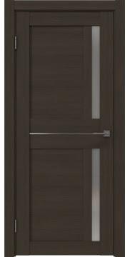Межкомнатная дверь, RM024 (экошпон мокко, матовое стекло)