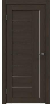 Межкомнатная дверь, RM025 (экошпон мокко, матовое стекло)