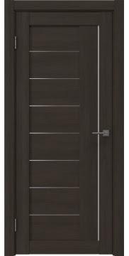 Межкомнатная дверь, RM025 (экошпон венге мелинга, матовое стекло)