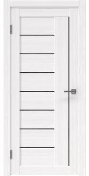 Межкомнатная дверь, RM025 (экошпон белый FL, лакобель черный)