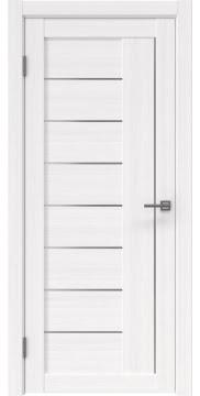 Межкомнатная дверь, RM025 (экошпон белый FL, матовое стекло)