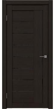 Межкомнатная дверь, RM025 (экошпон венге FL, лакобель черный)