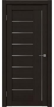 Межкомнатная дверь, RM025 (экошпон венге FL, матовое стекло)