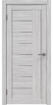 Межкомнатная дверь, RM025 (экошпон серый дуб FL, матовое стекло)