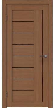 Межкомнатная дверь, RM025 (экошпон орех FL, лакобель черный)