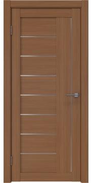 Межкомнатная дверь RM025 (экошпон «орех FL», матовое стекло) — 9155