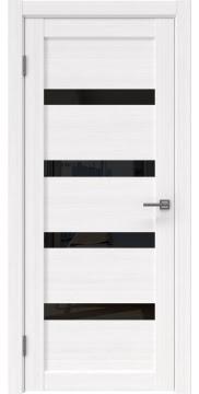 Межкомнатная дверь RM027 (экошпон «белый FL», лакобель черный) — 9027