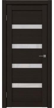 Межкомнатная дверь, RM027 (экошпон венге FL, лакобель белый)