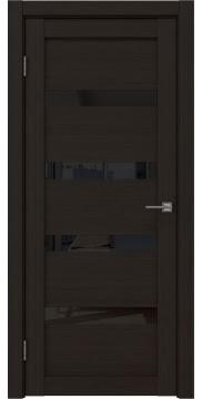Межкомнатная дверь RM027 (экошпон «венге FL», лакобель черный) — 9030