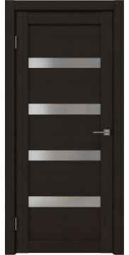 Межкомнатная дверь, RM027 (экошпон венге FL, матовое стекло)