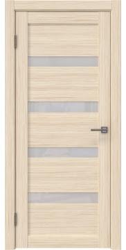 Межкомнатная дверь, RM027 (экошпон беленый дуб FL, лакобель белый)