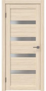 Межкомнатная дверь RM027 (экошпон «беленый дуб FL», матовое стекло) — 9034