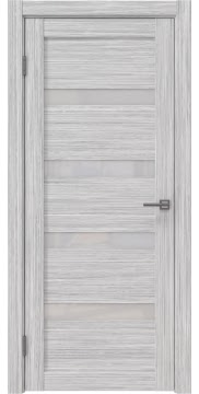 Межкомнатная дверь RM027 (экошпон «серый дуб FL», лакобель белый) — 9035