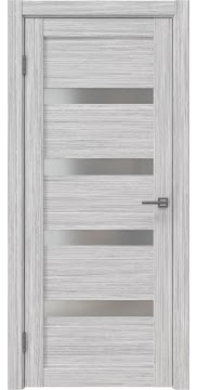 Межкомнатная дверь RM027 (экошпон «серый дуб FL», матовое стекло) — 9037