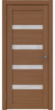 Межкомнатная дверь RM027 (экошпон «орех FL», лакобель белый) — 9038