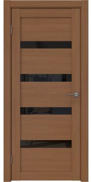 Межкомнатная дверь RM027 (экошпон «орех FL», лакобель черный) — 9039