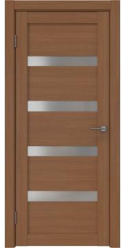 Межкомнатная дверь RM027 (экошпон «орех FL», матовое стекло) — 9040