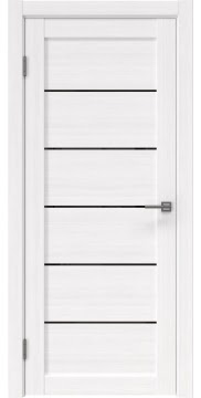 Межкомнатная дверь RM028 (экошпон «белый FL», лакобель черный) — 9042