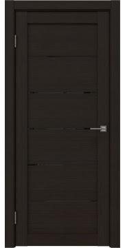 Межкомнатная дверь, RM028 (экошпон венге FL, лакобель черный)
