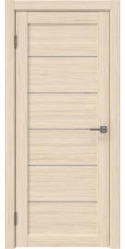 Межкомнатная дверь, RM028 (экошпон беленый дуб FL, лакобель белый)