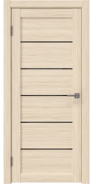 Межкомнатная дверь RM028 (экошпон «беленый дуб FL», лакобель черный) — 9048