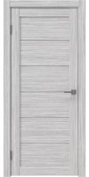 Межкомнатная дверь, RM028 (экошпон серый дуб FL, лакобель белый)