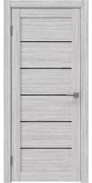 Межкомнатная дверь RM028 (экошпон «серый дуб FL», лакобель черный) — 9051