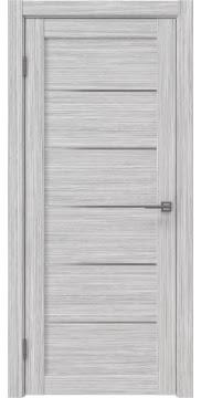 Межкомнатная дверь RM028 (экошпон «серый дуб FL», матовое стекло) — 9052