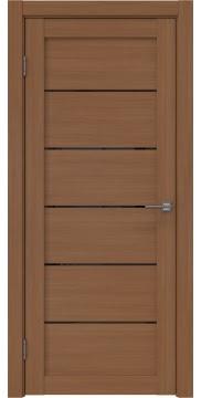 Межкомнатная дверь RM028 (экошпон «орех FL», лакобель черный) — 9054