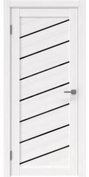 Межкомнатная дверь, RM029 (экошпон белый FL, лакобель черный)