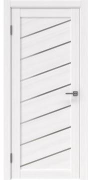 Межкомнатная дверь, RM029 (экошпон белый FL, матовое стекло)
