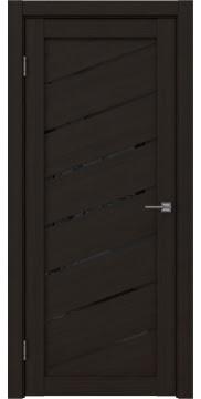 Межкомнатная дверь, RM029 (экошпон венге FL, лакобель черный)