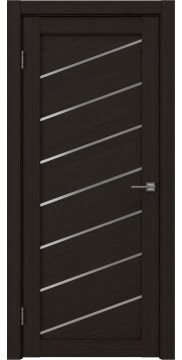 Межкомнатная дверь, RM029 (экошпон венге FL, матовое стекло)