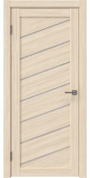 Межкомнатная дверь, RM029 (экошпон беленый дуб FL, лакобель белый)