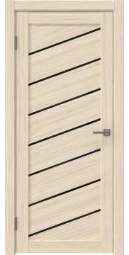 Остекленная дверь, RM029 (экошпон беленый дуб FL, лакобель черный)