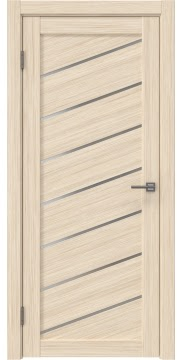 Межкомнатная дверь, RM029 (экошпон беленый дуб FL, матовое стекло)
