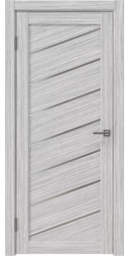Межкомнатная дверь, RM029 (экошпон серый дуб FL, матовое стекло)