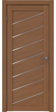 Межкомнатная дверь, RM029 (экошпон орех FL, матовое стекло)