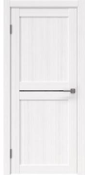 Межкомнатная дверь, RM030 (экошпон белый FL, лакобель черный)