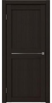 Межкомнатная дверь, RM030 (экошпон венге FL, матовое стекло)