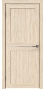 Межкомнатная дверь, RM030 (экошпон беленый дуб FL, матовое стекло)