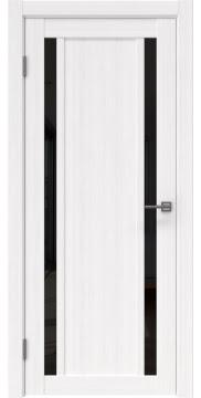 Межкомнатная дверь, RM031 (экошпон белый FL, лакобель черный)