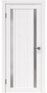 Межкомнатная дверь, RM031 (экошпон белый FL, матовое стекло)