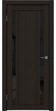 Межкомнатная дверь RM031 (экошпон «венге FL», лакобель черный) — 9127