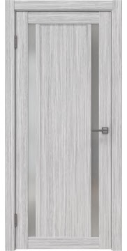 Межкомнатная дверь RM031 (экошпон «серый дуб FL», матовое стекло) — 9136