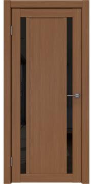 Межкомнатная дверь RM031 (экошпон «орех FL», лакобель черный) — 9139