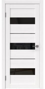 Межкомнатная дверь, RM034 (экошпон белый FL, лакобель черный)