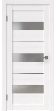 Межкомнатная дверь, RM034 (экошпон белый FL, матовое стекло)