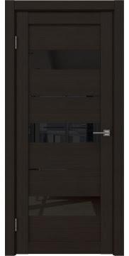 Межкомнатная дверь, RM034 (экошпон венге FL, лакобель черный)