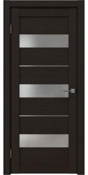 Межкомнатная дверь, RM034 (экошпон венге FL, матовое стекло)